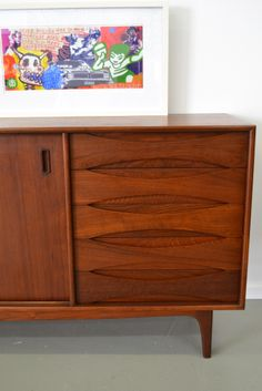 Mid century sideboard, maker unknown by probably Australian made in the style of Arne Vodder, www.tangerineandteal.com