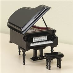 Black Grand Piano Music Box, Plays Fur Elise, at The Music Stand Piano Crafts, Piano Recital, Piano Bench, Music Stand, Grand Piano, Student Gifts, Piano Music, Music Love, Solid Wood