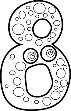 Number Four Coloring Page Printable Number 4 Pinterest