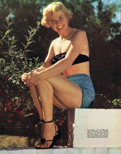 "Doris Day, Collier's magazine; January 7, 1950 ""Sun-bathing in her Hollywood yard encourages the freckles, which are an important part..."