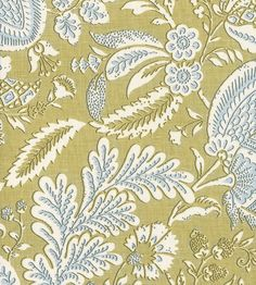 Monet Floral Pattern Blue Colour Jacquard Woven Fabric Curtains Upholstery 560