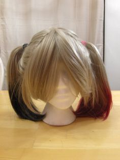 Custom Made Costume Cosplay Wig - Inspired by Harley Quinn: Arkham City