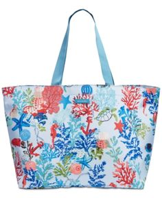 fe191faf Vera Bradley Lighten Up Family Beach Tote - Blue Shopping Totes, Vera  Bradley, Tote
