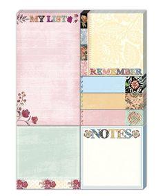 Calico Notes Sticky Pad Portfolio Set