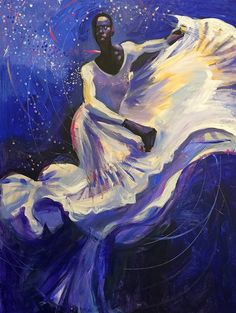 "I love the pictorial compositions of Charly Palmer. This piece is entitled ""The Dancer"" and was inspired by Judith Jamison of the Alvin Ailey Dance Theater."