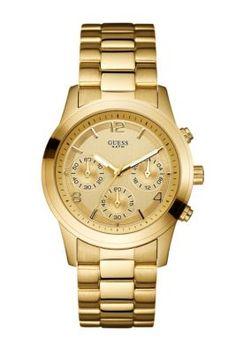 Gold-Tone Feminine Contemporary Watch | GUESS.com