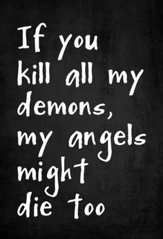 Because the angels were feeding on the demons ....? -AV