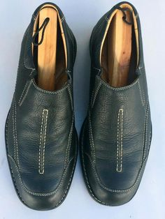 177542a516b J M Johnston   Murphy Black Soft Leather Loafers Moccasins Driving Shoes Sz
