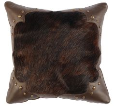 Hair on Hide pillow with leather corners Fur Pillow, Leather Pillow, Casadeco Wallpaper, Wood River, Bohemian Pillows, Scatter Cushions, Cozy House, Larp, Antlers