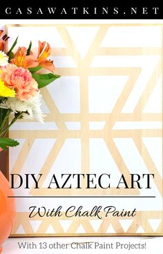 DIY Aztec Art: Create and Share Challenge - Casa Watkins Living