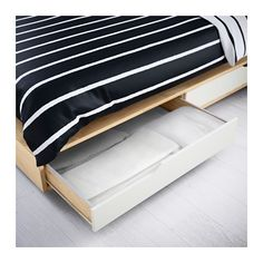 MANDAL Bed frame with storage - Queen - IKEA $400