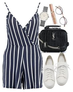 """Untitled #1880"" by mihai-theodora ❤ liked on Polyvore featuring Boohoo, Santoni, Yves Saint Laurent, ROSEFIELD and Garrett Leight"