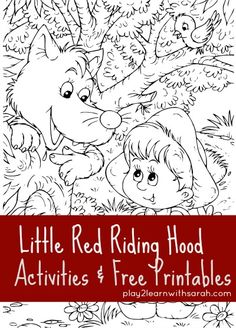 Little Red Riding Hood Activities & Free Printables | Play 2 Learn with Sarah