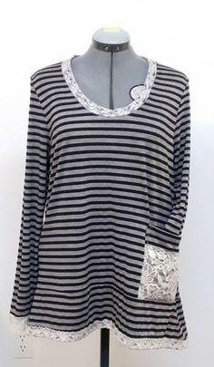 Woman's Fashion - Custom designed Striped  pullover/tunique