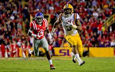 Download wallpapers Derrius Guice, 4k, american football, NFL, running back, LSU Tigers