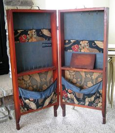 WOW Art Deco Sewing Storage Cabinet Big Florals by ChicLaMaison, $250.00