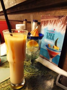 Cheeseburgers in Paradise-- Mt. Gay Mango Colada