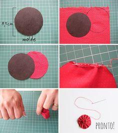 Como fazer fuxico - tutorial - dcoracao.com - blog de decoração e tutorial diy