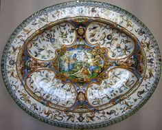 Earthenware dish with Minerva and Muses, Urbino, 2nd half of 16th century, The Hermitage.JPG