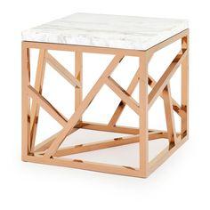 SIDE TABLE STICKS MARB SHRT
