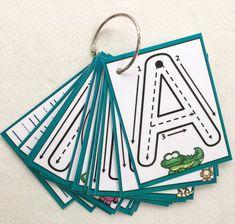 Uppercase Little Letters Clip Cards Dry erase alphabet