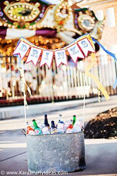 Train Big Top Vintage Carnival Carousel Themed Birthday Party Ideas A circus inspired banner ensures every aspect of you party feels fun and festive!A circus inspired banner ensures every aspect of you party feels fun and festive! Carousel Themed Birthday, Trains Birthday Party, Carnival Birthday Parties, Circus Birthday, First Birthday Parties, Birthday Party Themes, Birthday Ideas, 2nd Birthday, Birthday Crafts