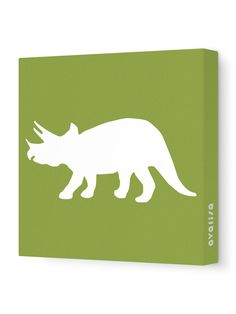 Triceratops Silhouette by Avalisa on Gilt