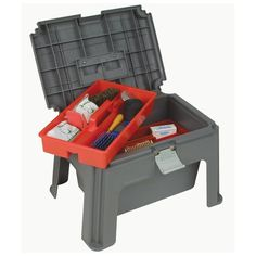 Dura-Tech Stool Box from Schneiders, $34.95...I have two and wouldn't go to a horse show w/o one! stock it with bands, combs and brushes as a gift for a horse show rookie!  This is a good transport to the ring... Stock with the basics... for the actual banding i prefer a double step with no lid.
