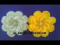 3D çiçek nasıl yapılır tığ işi çiçek yapimi Örgü modelleri - YouTube