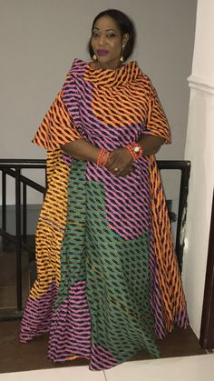 High color wide Maxi dress. Kanyget fashions+