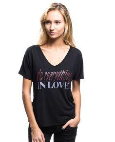 Do Everything In Love Flowy V Neck