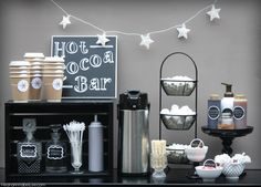 Get all of the details on this Hot Cocoa Bar... from DIY Projects, the BEST Hot Chocolate Recipe, Topping Ideas, and so much more!