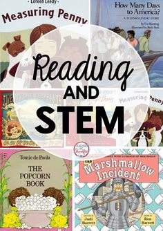 STEM Challenges and Reading: Here are some terrific ways to get both of these into your busy days! I especially like the fourth book for STEM!