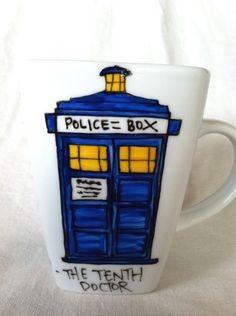 Doctor Who Good cup of tea Tenth Doctor by OpheliasGypsyCaravan, $14.00