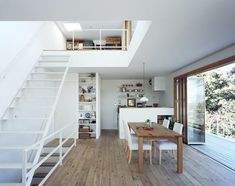 Dining room + Kitchen + Staircase