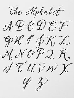 Handwriting Fonts Alphabet Styles Hand Lettering Ideas Creative Tatto Letters Montessori Invite Tatoos