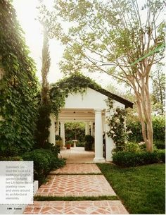 Great idea for the walkway towards the guest/pool house... LUCY WILLIAMS INTERIOR DESIGN BLOG: HIGH END CASUAL….
