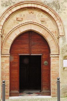 Ostra, Marche, Italy - St.Gregorio Church built in 1333 by Gianni Del Bufalo