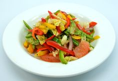 Colorful and delicious citrus fennel and mango summer salad.