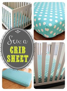 Sew A Crib Sheet {baby #3 Gets Bedding
