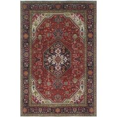 Vintage Distressed Barrett Red/Blue Rug (6'5 x 9'5) - Free Shipping Today - Overstock.com - 24296527