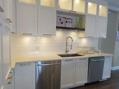 White Shaker Cabinets Design Ideas, Pictures, Remodel, and Decor - page 9