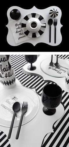 【楽天市場】Set de table(ホワイト)【monotone モノトーン 白黒 デザイン ランチョンマット プレースマット シンプル A3 フレンチ フランス インテリア ウォールアート】:mon・o・tone 楽天市場店