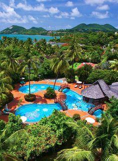 Sandals Halcyon Beach Luxury Resort In Castries St Lucia