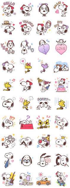 Charming all with her big eyes and long eyelashes, Snoopy's super cute sister, Bell, has come out with her own trendy collection of stickers in pastel colors.