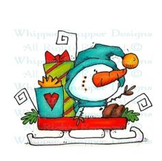 Whipper Snapper Designs is an expansive online store selling a large variety of unique rubber stamp designs. Christmas Doodles, Christmas Drawing, Christmas Clipart, Christmas Paintings, Christmas Printables, Christmas Rock, Felt Christmas, Christmas Time, Christmas Ornaments