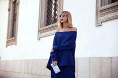 LADY IN BLUE: MFW DAY 3