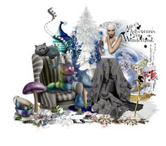 """""""Winter in Wonderland"""" by keva-odom ❤ liked on Polyvore featuring art"""