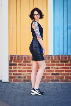 Nike Roshe One Print i czarna sukienka (13)