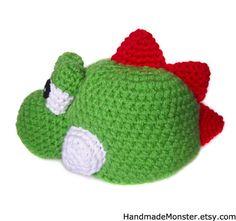 Sale YOSHI HALLOWEEN COSTUME mario inspired hat por HandmadeMonster